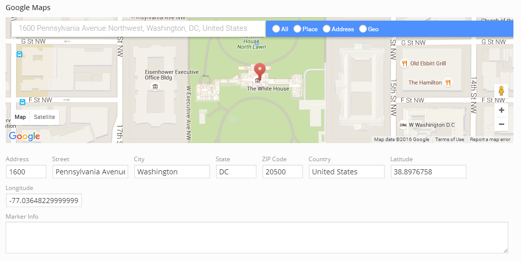Google Maps » Redux Documentation